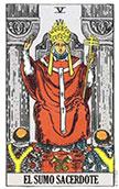 arcano del dia El Sumo Sacerdote